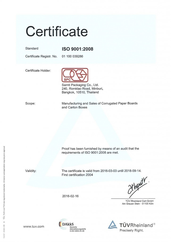 CERTIFICATE-ISO 9001-2008